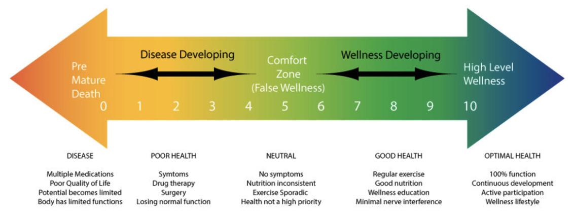 wellness and illness continuum
